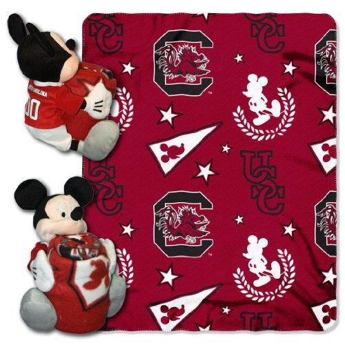 South Carolina Gamecocks Stocking (Officially Licensed NCAA South Carolina Gamecocks Co-Branded Disney's Mickey Hugger and Fleece Throw Blanket Set)