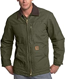 Carhartt Men\'s Ridge Coat Sherpa Lined Sandstone,Army Green,XXX-Large Tall