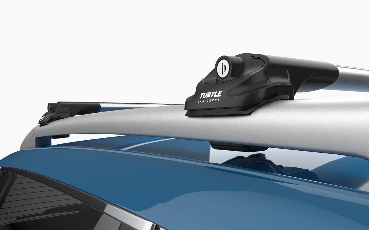 GREY ROOF RACK CROSS BARS ROOF RAILING LOCKABLE FOR DACIA DUSTER SUV 2014-2017