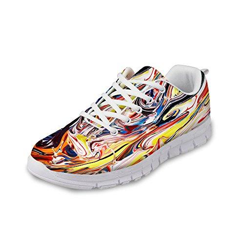 Para U Diseños Fashion Flex Unisex Hombres / Mujeres Casual Mesh Comfort Train Running Zapatos Multi