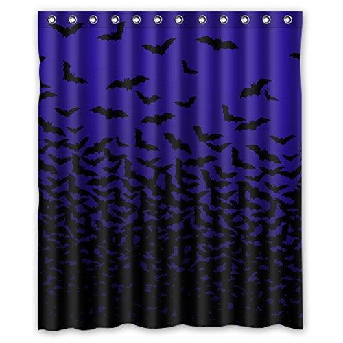 Custom Halloween Thousands of Bats Waterproof Polyester Shower - Bat Shower Curtain