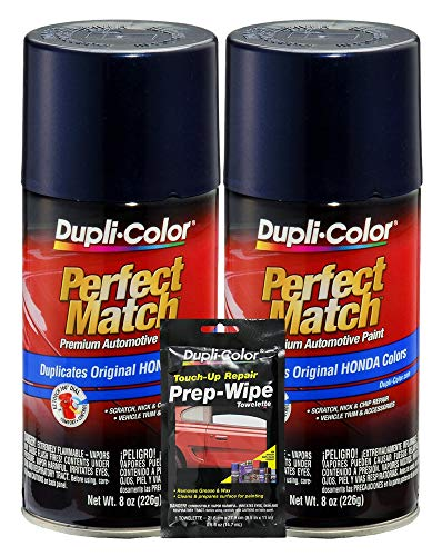 Dupli-Color Royal Blue Pearl Exact-Match Automotive Paint - 8 oz, Bundles Prep Wipe (3 Items) ()