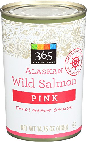 365 Everyday Value, Alaskan Wild Salmon Pink, 14.75 oz (Best Canned Salmon Brand)