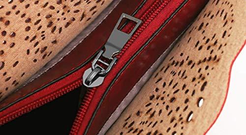 épaule Grande Red Ajouré Sacs Dames Capacité Main à Ensembles Trois Et Mère PU Cuir Sac KYOKIM Bag Pièces Enfant Messenger wH74zAfq