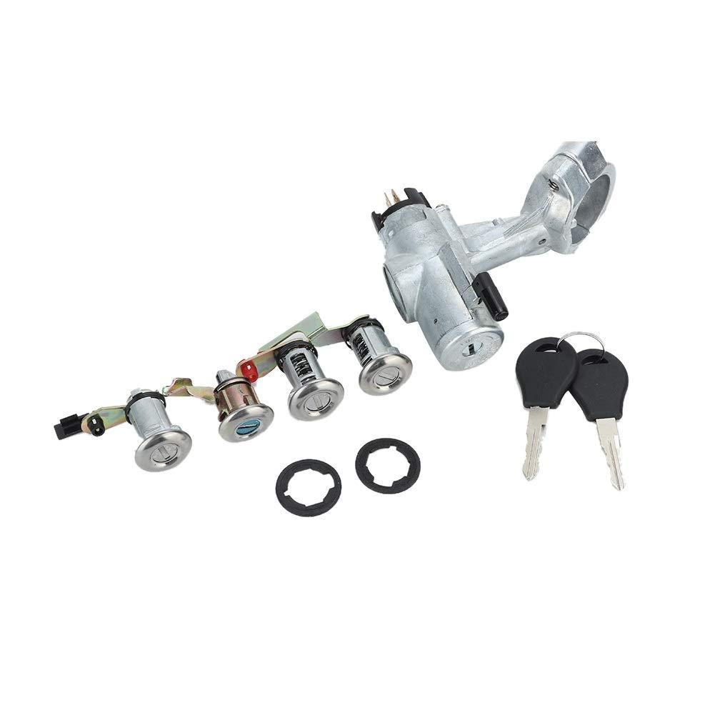 aleaci/ón de aluminio Interruptor de la llave de encendido Compatible con NISSAN PATROL GQ Y60 BLOQUEO 2 PUERTAS BARRERO PUERTA 88-98 Conjunto de interruptor de la llave de encendido