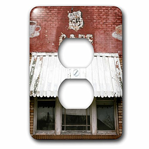 Danita Delimont - Route 66 - Facade of an abandoned Cafe, Litchfield, Illinois, USA. Route 66 - Light Switch Covers - 2 plug outlet cover - Route 66 Switch Light