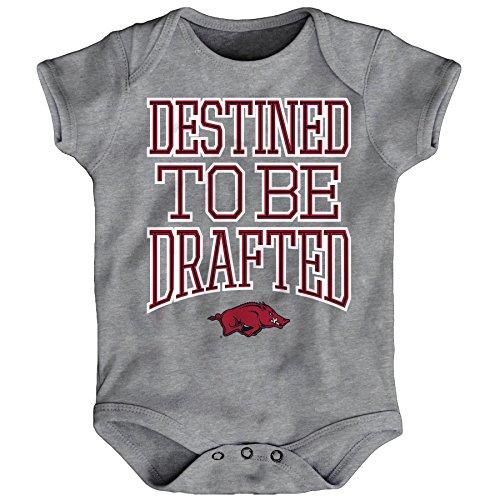 OuterStuff NCAA Arkansas Razorbacks Infant Destined Onesie, Heather Grey, 24 Months