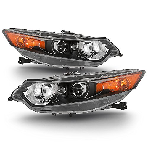 ACANII - For [HID Type] 2009-2014 Acura TSX Headlights Headlamps Head Lights Lamps - Replacement Driver & Passenger Side