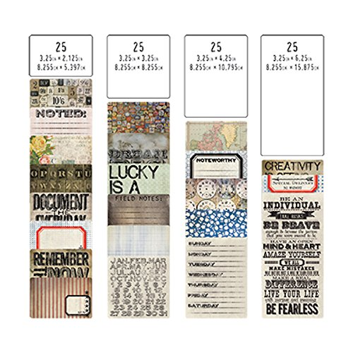 Pocket Cards by Tim Holtz Idea-ology, 100 Cards, Assorted Sizes, Multicolored, ()
