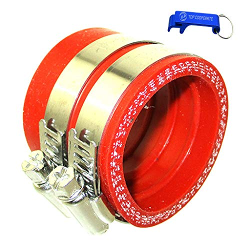 TC-Motor 40mm Carburetor Carb Intake Pipe Manifold Adapter Boot Sleeve Joint (Red) ()