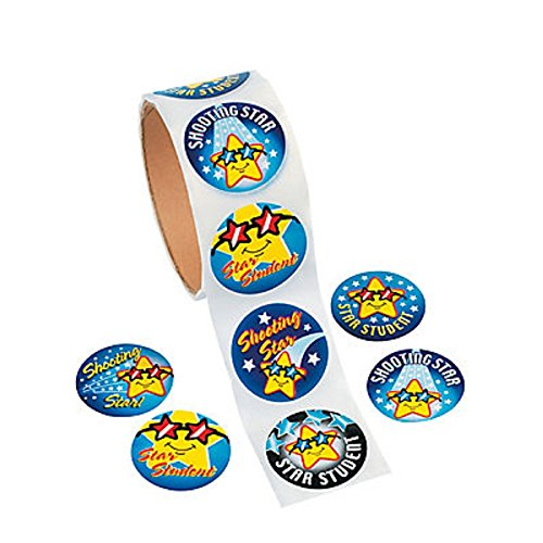 100 Star Student Stickers Roll