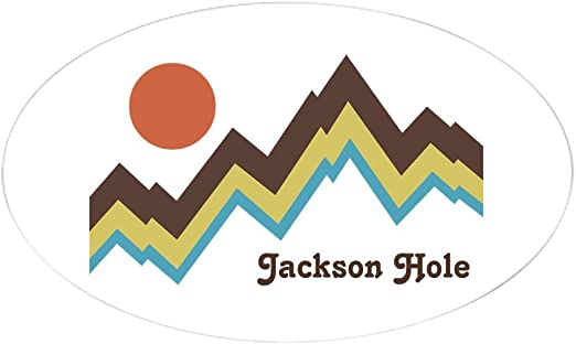 Euro Oval Car Decal CafePress Jackson Hole Oval Bumper Sticker 501598372