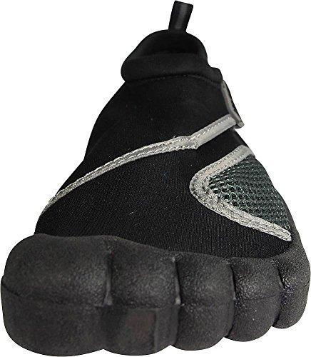 NORTY Young Mens Skeletoe Aqua Wave Water Shoe - Runs 1 Size Small Black 2 Tfhr2