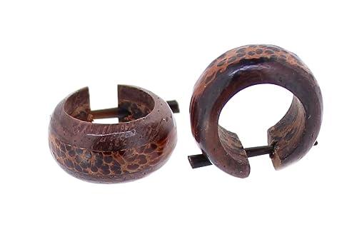 Ohrringe aus Kokosnuss  Holz