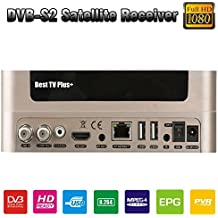 Best TV plus DVB-S2 Satellite Receiver Set Top Box Support PowerVu Biss Key Cccam Newcam Youtube Youporn via USB WiFi with US Power Plug