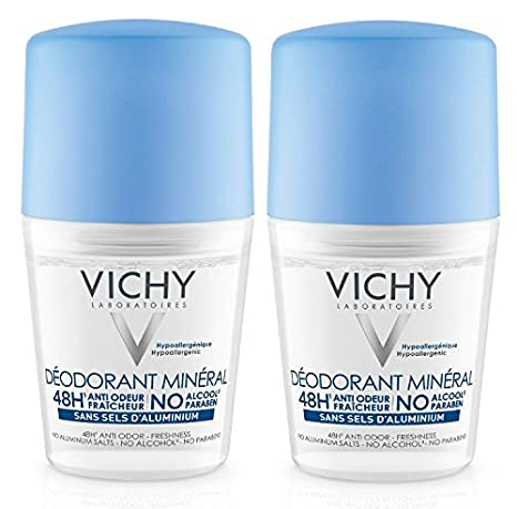 Vichy de Roll On Deodorant Mineral sin aluminio salze doble Pack (solo hasta final de Existencias.), 100ml: Amazon.es: Belleza
