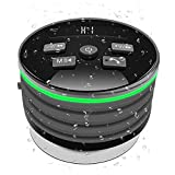 Wireless Bluetooth Speaker With Built-In Mic,Handsfree Call,FM Radio,HD Sound,LED Flash Light,Fashion Waterproof Speaker For Home,Car,Shower,Travel(Grey)