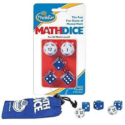 ThinkFun Math Dice Fun Game that Teaches Mental Math Skills to Kids Age 8 and Up: Game: Toys & Games