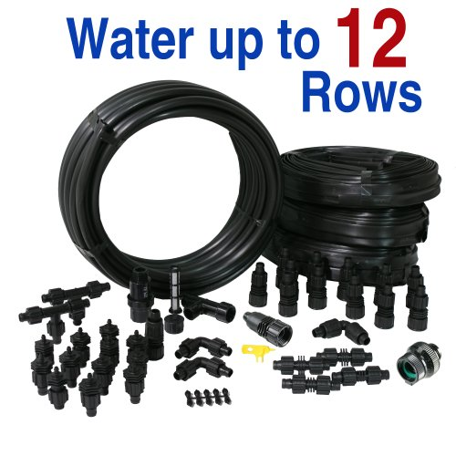 Drip Tape Irrigation Kit for Row Crops & Gardens Premium Size by Drip Depot (Image #1)