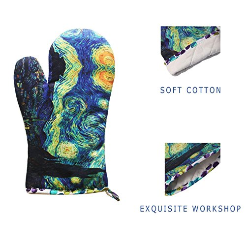 MAGICAL DESIGN Funny Oven Mitts, with The Heat Resistance and Flexibility of Cotton, Recycled Cotton Infill, Terrycloth Lining, 480 F Heat Resistant Pair by MAGICAL DESIGN (Image #2)