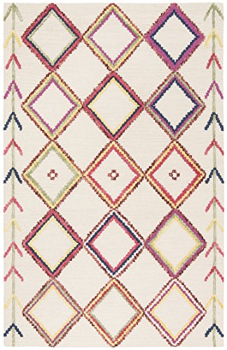 Safavieh Bellagio Collection BLG563A Ivory and Multi Premium Wool Area Rug (5' x 8')