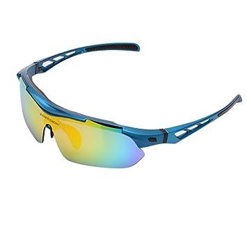 ROBESBON Goggles Polarized Hombre/Mujer Sunglasses UV400 Gafas Polarizadas de Sol Protección Ojos Contra-Viento para Mountain Bike Cycling Ciclismo Moto ...