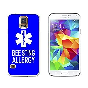 Bee Sting Allergy - Medical Emergency - Star of Life - Snap On Hard Protective Case for Samsung Galaxy S5 - White