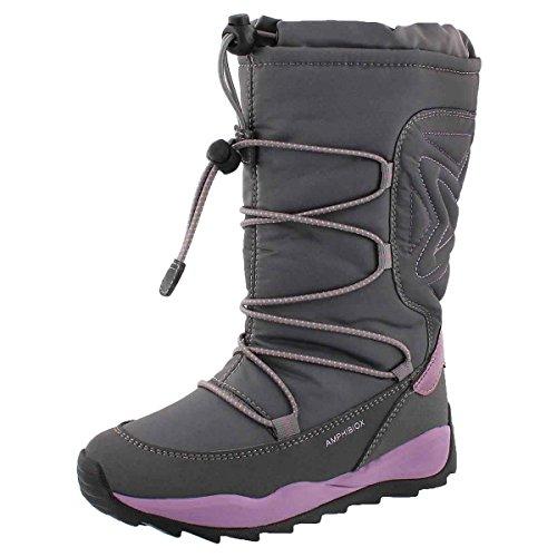 Geox Girls' Orizont B ABX Waterproof Winter Boot Grey 30 M EU by Geox