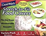 CoverMate® Stretch-to-fit Food Covers Variety Pack--4 Med; 4 Lg; 2 X-Lg