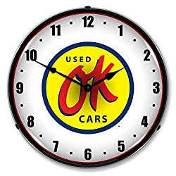 Collectable Sign and Clock GM1112352 14 OK Used Cars Lighted Clock