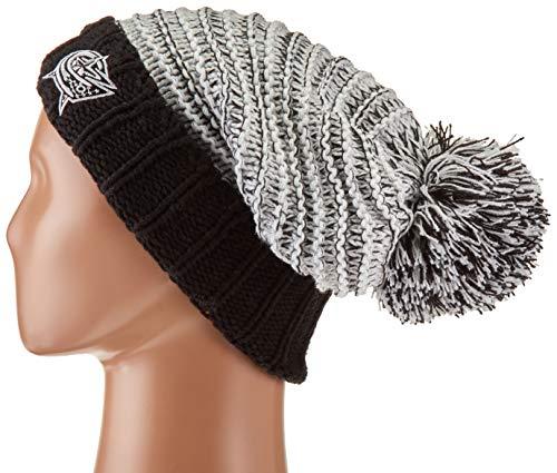 (OTS NHL Columbus Blue Jackets Female Sansa Cuff Knit Cap, Black, Women's)