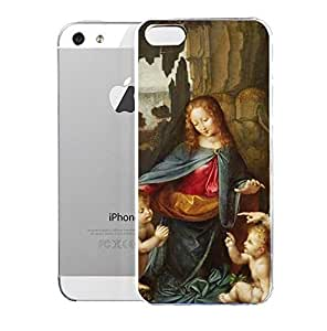 Light weight with strong PC plastic case for Iphone 5/5s Art The Classics Da Vinci Madonna Of The Rocks