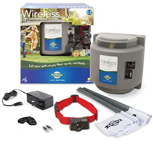 PetSafe Wireless Dog and Cat Containment System - from the Parent Company of INVISIBLE FENCE Brand - Above Ground Electric Pet Fence (Stubborn Dog Fence Kit)