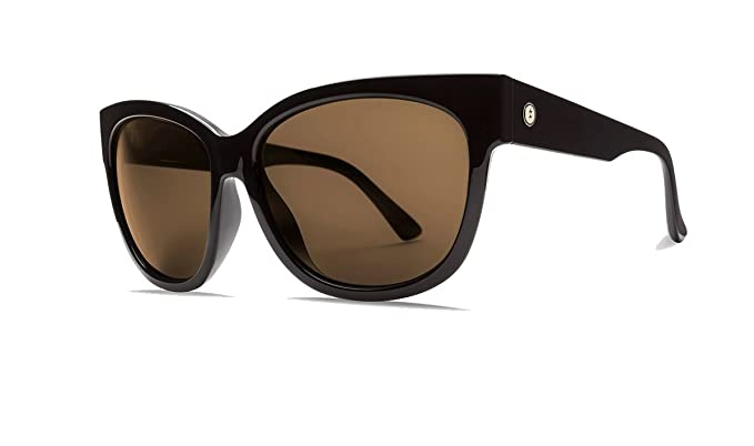 eedcc005d1d Image Unavailable. Image not available for. Color  Electric Danger Cat  Women s Sunglasses Gloss with OHM Bronze Lens