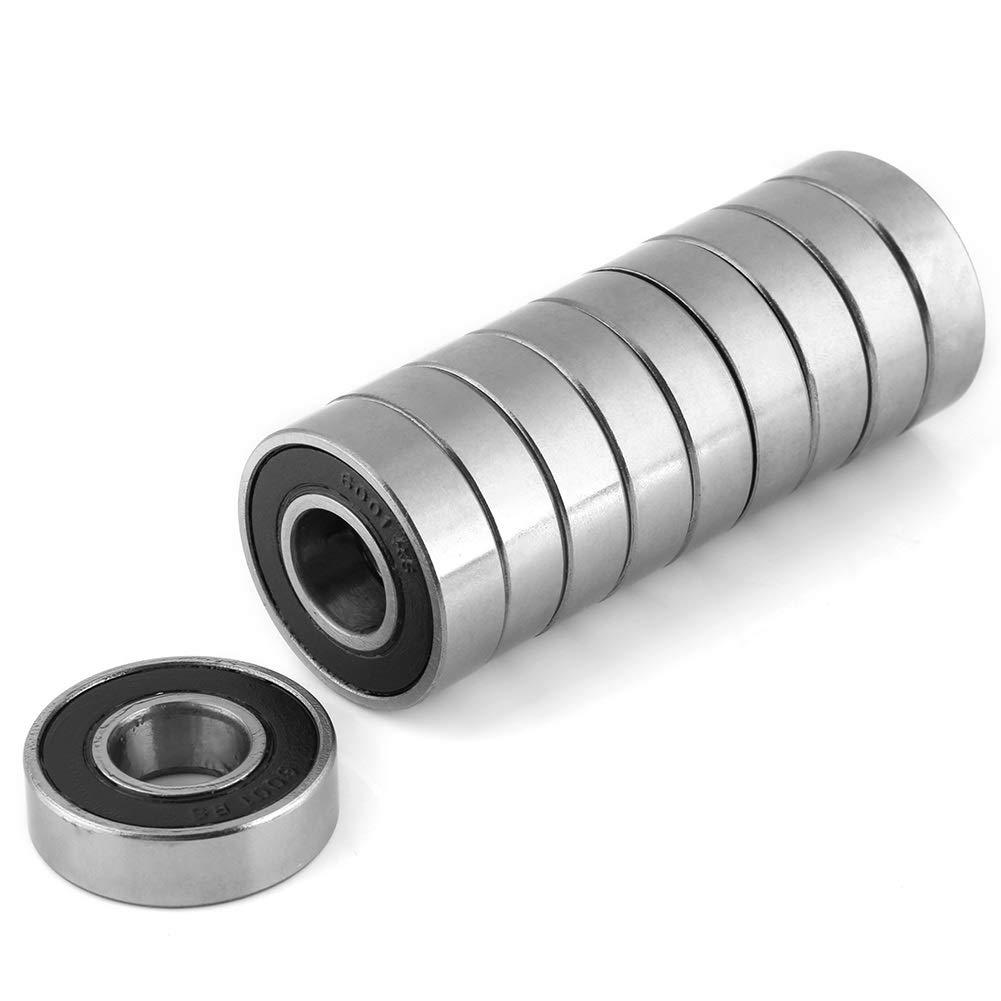 10Pcs 6001-2RS Roulement scell/é Roulements de joint d/étanch/éit/é en caoutchouc multi-usages durables Roulements /à billes /à gorge profonde 12x28x8mm Roulements /à billes