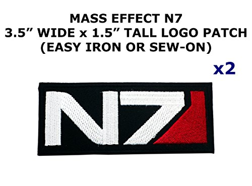 Diy Video Game Costumes (2 PCS Mass Effect N7 Video Game Theme DIY Iron / Sew-on Decorative Applique Patches)