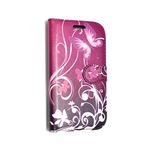 STYLE YOUR MOBILE Samsung Galaxy S3S III Mini I8190Piel sintética con Cierre magnético Carcasa Skin Funda Bolsa + Protector + Lápiz Capacitivo 4