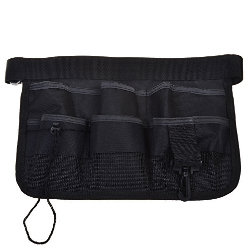 COSMOS Black Color Multi-function Utility Waist Tool Kit Apron Bag Pouch Case Organizer with Adjustable Waist Strap