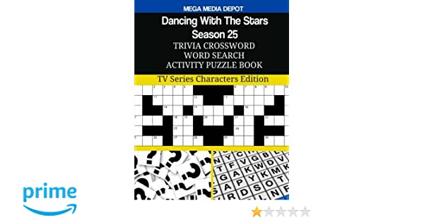 Dancing With The Stars Season  Trivia Crossword Word Search Activity Puzzle Tv Series Characters Edition Mega Media Depot  Amazon Com