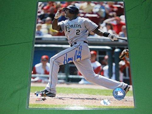 Hanley Ramirez Autographed 8x10 Florida Marlins Ramirez Autographed Jersey