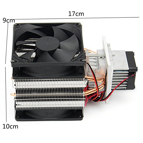 CocinaCo 12V DIY Semiconductor Refrigeration Thermoelectric Peltier Air Cooling Machine Device