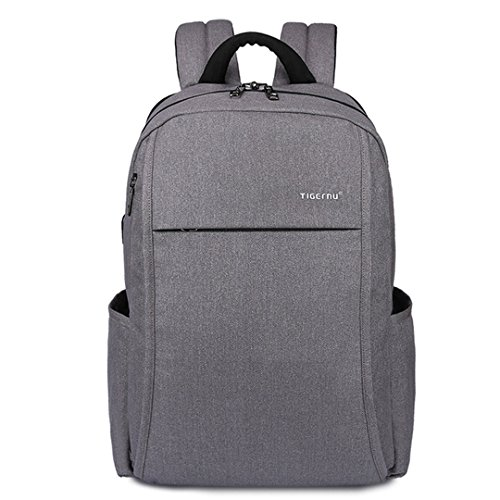 Anti-Theft USB Charging 15.6'' Laptop Female Computing Backpack Male Backpack Grey by Chargi