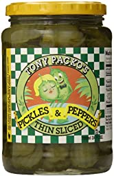 Tony Packo Thin Sliced Pickles and Peppers, 24 Ounce