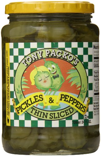 Pepper Pickles (Tony Packo Thin Sliced Pickles and Peppers, 24 Ounce)