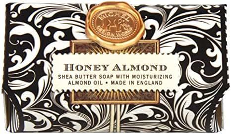 Michel Design Works 9-Ounce Bath Soap Bar, Honey Almond, Large