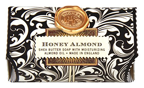 Michel Design Works 9-Ounce Bath Soap Bar, Honey Almond, Large