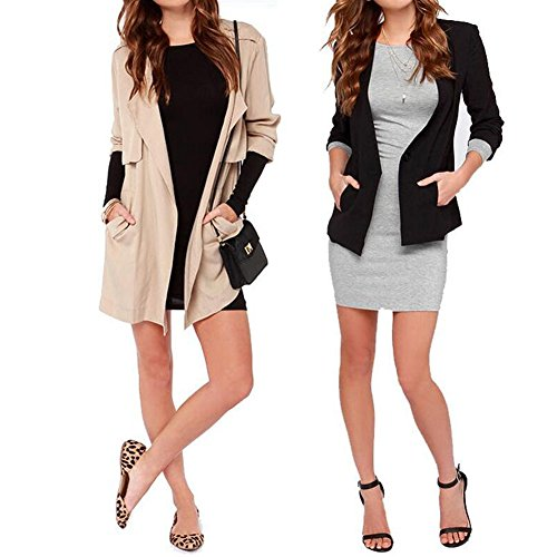 iBaste Minikleid Damen Langarmshirt Jerseykleid Bodycon Kleid ...