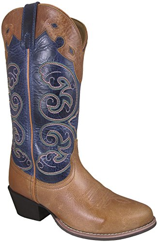 Smoky Mountain Womens Tan/Blue Alpine Western Cowboy Boot