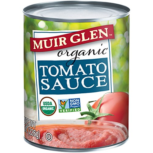 Muir Glen Tomato Sauce (Muir Glen Organic Tomato Sauce, No Sugar Added, 8 Ounce Can (Pack of 24))