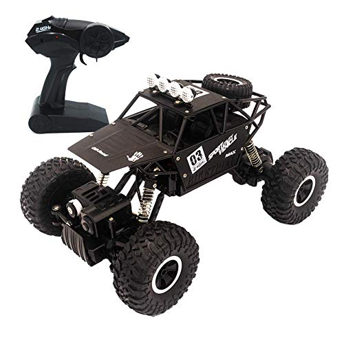 Lovstory - Robust Off-Road Remote Control Car Monster Truck, with 1:18 Scale 2.4 GHz 4WD High Speed RC Vehicle, Racing Toy Car for Boys Girls and Adults (Black)